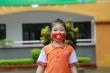 Học sinh Hà Nội vẽ khẩu trang lên mặt, truyền thông điệp phòng chống COVID-19