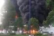 Cháy lớn ở công ty đồ da tại Bình Dương, nhà xưởng đổ sập