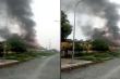 Hỏa hoạn thiêu rụi kho xưởng rộng hàng trăm mét vuông ở Hà Nội