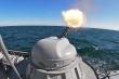 Video: Tàu pháo Volgodonsk tấn công đa mục tiêu ở biển Caspi