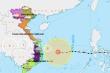 Cơn cuồng phong bão số 9 đang đi ngang, tiến thẳng Quảng Ngãi -Bình Định