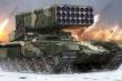 Video: Màn 'phun lửa hủy diệt' của hệ thống pháo phản lực hạng nặng TOS-1A