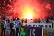 CĐV đốt 7 quả pháo sáng: HLV Hà Nội FC, Hải Phòng khen BTC có cố gắng