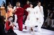 Á hậu Trúc Ny tái xuất rạng ngời trong đêm bế mạc Tuần lễ Thời trang Quốc tế
