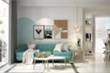 Xua tan nắng nóng với nội thất màu xanh ngọc