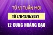 12 cung hoàng đạo tuần mới 7/6-13/6: Song Tử gặp rủi ro tài chính