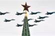 Ảnh: Hàng loạt máy bay chiến đấu tối tân trong lễ duyệt binh Ngày Chiến thắng