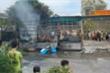 Xe tải bốc cháy dữ dội, hàng hóa bị thiêu rụi