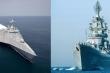Đo sức mạnh siêu hạm Zumwalt của Mỹ và tuần dương hạng nặng Orlan của Nga