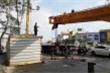 Lật xe container trước cổng trường học, đường tắc gần 4 tiếng đồng hồ