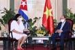 Chủ tịch nước tiếp Phó Chủ tịch thứ nhất Viện Cuba hữu nghị với các dân tộc
