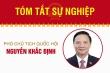 Infographic: Sự nghiệp Phó Chủ tịch Quốc hội Nguyễn Khắc Định