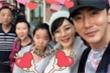 Chae Rim mang bụng bầu đi chơi với nhà chồng