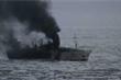 Tàu cá Hàn Quốc bốc cháy, 2 thuyền viên người Việt mất tích