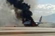 Hình ảnh kinh hoàng máy bay British Airways bốc cháy trên đường băng