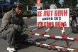 Xem mặt 'hiệp sĩ' kéo xe hút đinh từ Sài Gòn ra HN