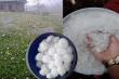 Video: Mưa đá lần đầu xuất hiện ở TP Lào Cai