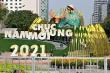 Công nhân gấp rút hoàn thiện những hạng mục cuối cùng của đường hoa Nguyễn Huệ