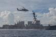 Mỹ điều khu trục USS Mustin tuần tra ở Biển Đông