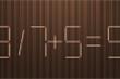 Di chuyển một que diêm để phép tính 3 / 7 + 5 = 9 thành đúng