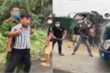 Nhóm côn đồ ở Hòa Bình hung hãn đập phá xe ô tô, đánh người trước mặt công an