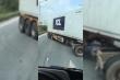 Container lù lù quay đầu, đi ngược chiều trên cao tốc Hà Nội – Bắc Giang