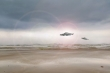 Cặp anh em Australia kể về cuộc hỗn chiến trên không của hai UFO