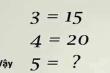 Bài toán thử thách chỉ số IQ của bạn