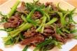 Món ngon mỗi ngày: Thịt bò xào ngồng tỏi