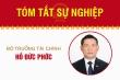 Infographic: Sự nghiệp Bộ trưởng Tài chính Hồ Đức Phớc