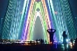 Chiêm ngưỡng pháo hoa nghệ thuật trên cầu Nhật Tân nhìn từ flycam