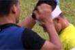 Video Quang Hải rách trán phải quấn băng trắng đầu