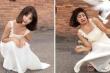 Người đẹp mất vía khi chụp ảnh với bồ câu