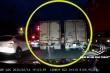 Tranh nhau vượt đèn xanh, 2 xe tải rượt đuổi nhau như phim hành động
