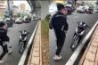 Va chạm giao thông với thai phụ, nam thanh niên đập phá xe người đến nhắc nhở