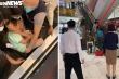 Xôn xao hình ảnh bé trai bị kẹt chân vào thang cuốn trung tâm thương mại Hà Nội