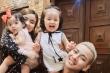 Hai con gái đáng yêu của Hoài Lâm và cháu gái danh hài Bảo Quốc