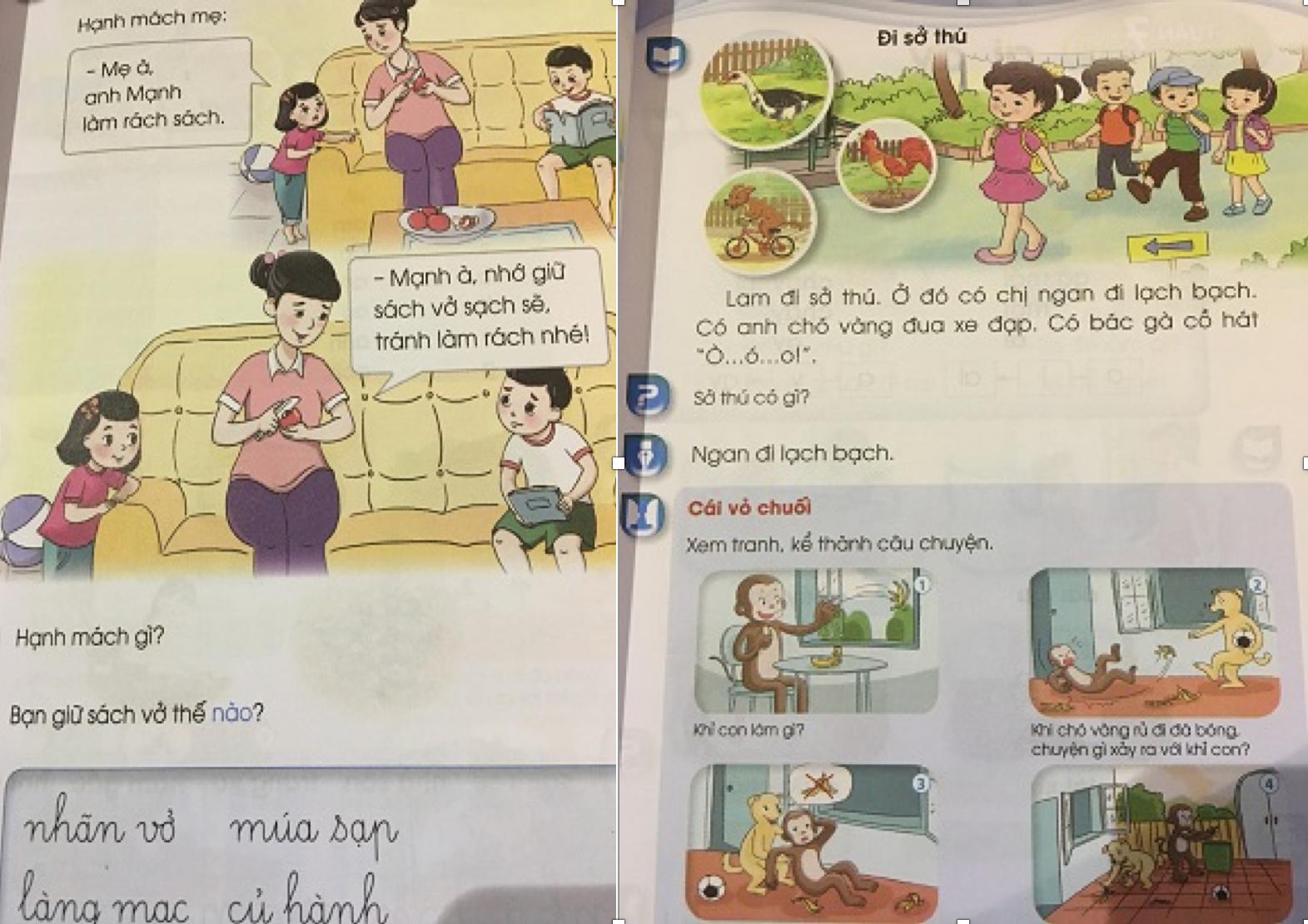 Phát hiện thêm một cuốn sách giáo khoa Tiếng Việt 1 chi chít 'sạn' - 1